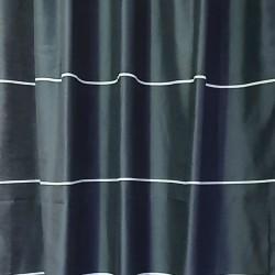 Перде BLOOM плътно черно с бели ивици 145/250