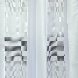 Перде BLOOM полуплътно бяло с ивици сиво преливане 145/250