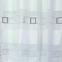 Перде BLOOM полупрозрачно, крем с черни квадрати