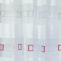 Перде BLOOM полупрозр. крем червени квадрати 145/250