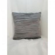 Възглавница декоративна 40х40 сива плисе