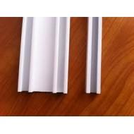 корниз едноканален алуминиев бял